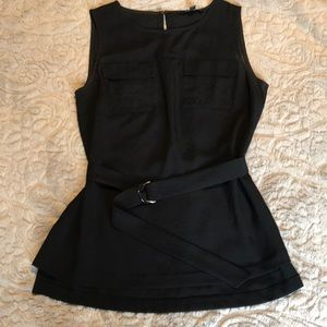 Banana republic gently worn belted tank blouse